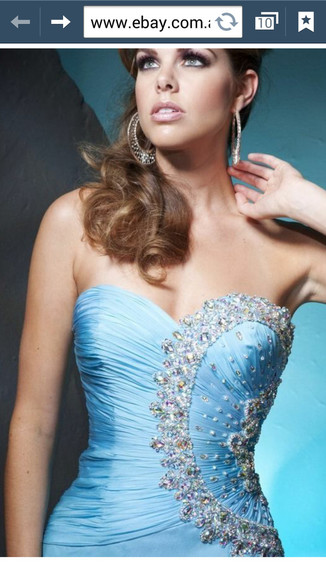 dress prom homecoming formal blue ballgown