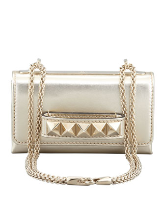 Valentino Va Va Voom Metallic Mini Bag, Gold - Neiman Marcus