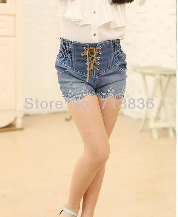 Girls shorts denim shorts summer new kids crochet wave design clothes n14essr9 35
