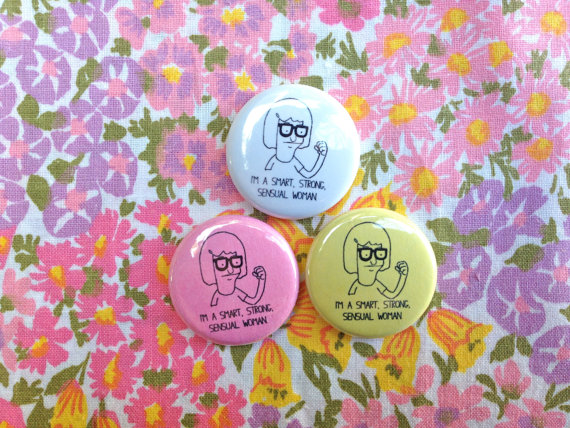 Tina belcher button pick one by nastynasty on etsy