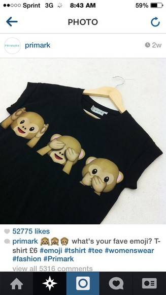 black shirt emoji shirt