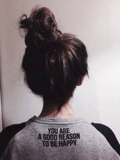 sweater,grey,jumper,valentines day,love quotes,black,black sweatshirt,cozy,girly,t-shirt,happy,shirt,black sleeved,good,person,quote on it,you are a good reason to be happy,writing,cute,grey sweater,sweatshirt,tumblr,clothes,grunge,grunge sweater,fashion,style,bun,saying,graphic tee,attitude,love more,raglan t-shirt,tumblr shirt,you are a good reason to be happy sweater,top,sweatwear,pullover,happily ever after,tumblr outfit,tumblr sweater,blouse,zara,girl,gray blue,truebeautyg,sweet,stylish,trending dress,on point,on point clothing,black and grey,tags,girl sweater,winter sweater,jumper sweater autumn winter love,black sweater,grey and black,grey shirt,swimwear,happiness,love,reasons,warm sweater,white,brunette,greyscale,cute sweaters