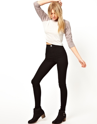 jeans black high waisted pants