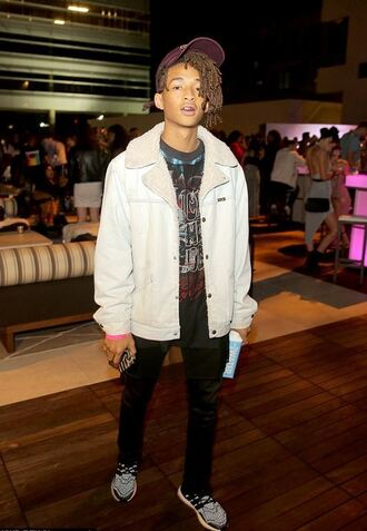 jacket sneakers sweatshirt menswear mens shoes mens jacket mens sweater jaden smith cap