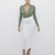 BODY TALK Body Con Pencil Skirt in White at FLYJANE