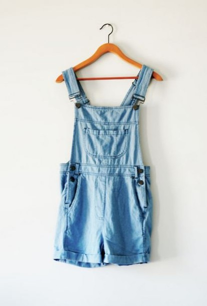 shorts overalls jeans denim acid wash shoes dungarees demin jeans dress blue buttons salopette jumpsuit