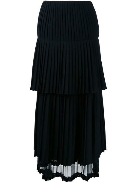 skirt pleated skirt pleated women draped black wool