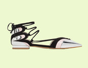 shoes,strappy shoes,strappy,strappy flats,pointed shoes,pointed flats,silver