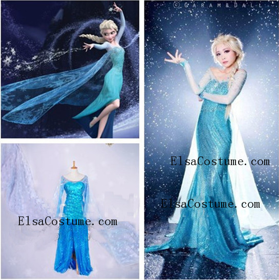 Elsa Dress Custom-made By Tia [ED1005] - $159.00 : Elsa costume - Custom Elsa Dress