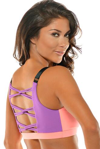 top sexy back low cut style bombshell sportswear sports bra