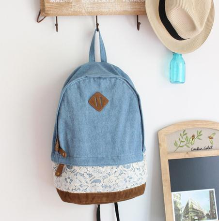 lace cowboy cute backpack bag / Fanewant