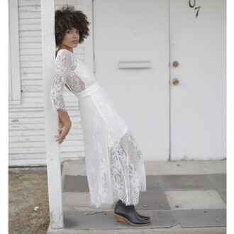 dress for love and lemons white lace bohemian romantic dress romantic fairy los angeles contemporary edge southern elegant dress edgy boho boho chic goddess black boots