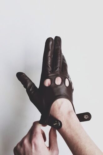gloves leather gloves menswear leather black classy wishlist