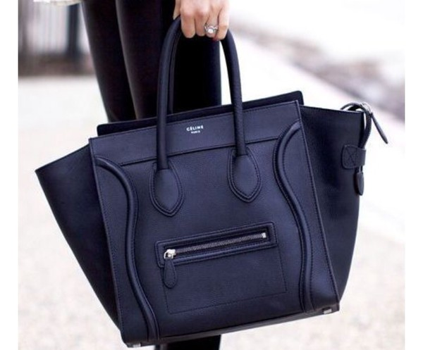 celine handbags replica - Celine Pre-Owned Celine Pebbled Leather Micro Luggage Tote ...