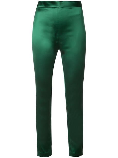 Rosetta Getty zip women spandex silk green pants