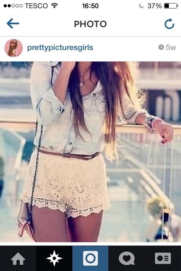 shorts blouse