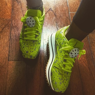 shoes green style cute
