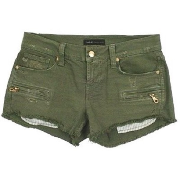 shorts work custom jeans olive cut-off shorts