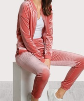 jumpsuit,girly,pink,velour,velour hoody,velourtracksuit,crushed velvet,two-piece,matching set,tracksuit,joggers,sweater,sweatpants,zip,crop,cropped sweater