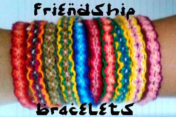 Colorful friendship bracelet 1 piece by remcycled on etsy