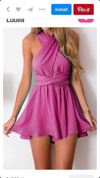 dress summer dress summer pink dress pink romper cute cute dress lulla style fashion