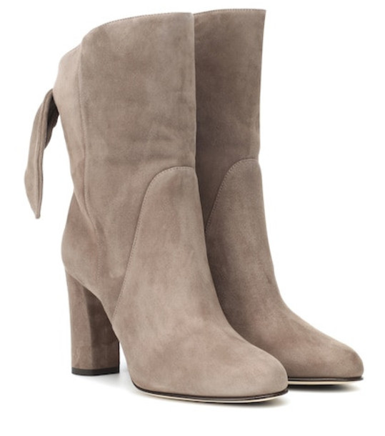 Jimmy Choo Malene 85 suede ankle boots in brown