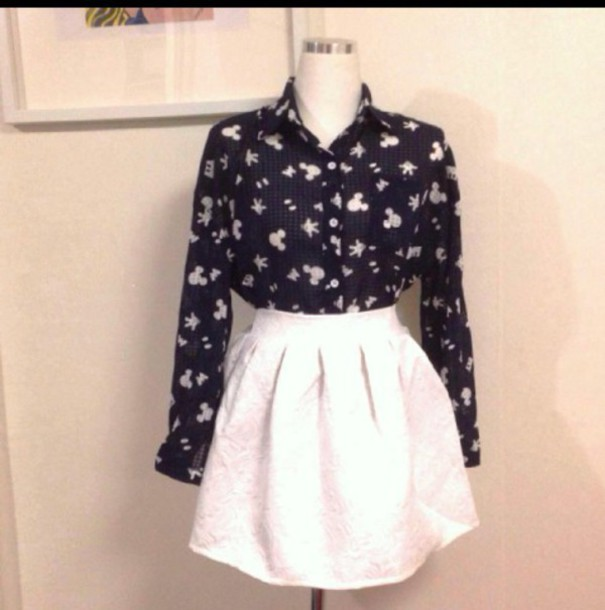 blouse mickey mouse girly