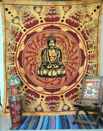 home accessory meditation yoga mat tapestry gift ideas cheap gift wall tapestry wall decor buddha buddhism indian tapestry