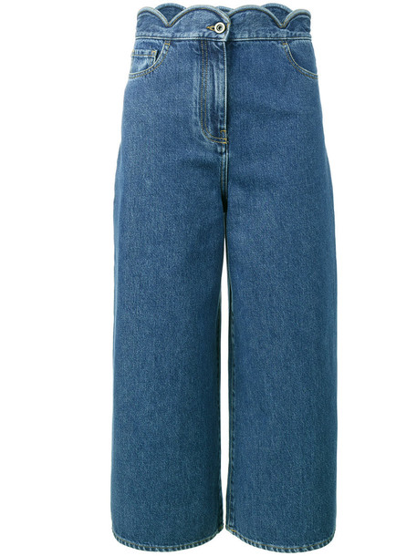 Valentino jeans cropped jeans cropped women cotton blue