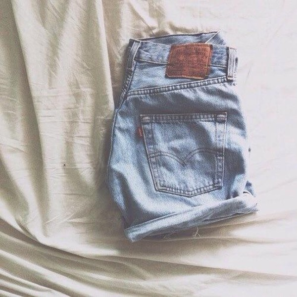 shorts High waisted shorts blue jeans hipster grunge basic