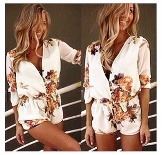 jumpsuit fashion flannel shirt flowered shorts style summer dress shorts white dress white t-shirt brown dress