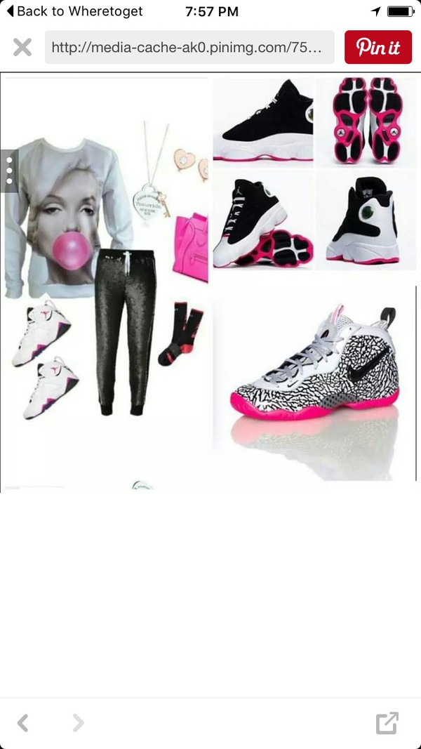 shoes, black, hot pink, white, air jordans pink white shoes