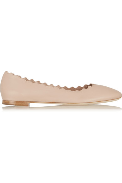 Lauren leather ballet flats