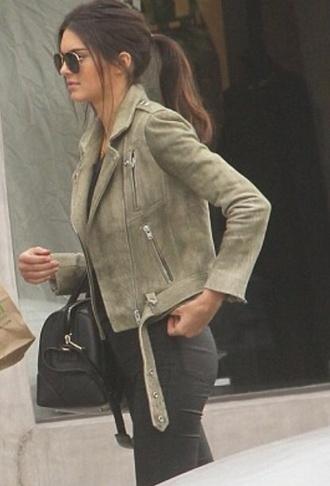 jacket leather jacket suede jacket kendall jenner
