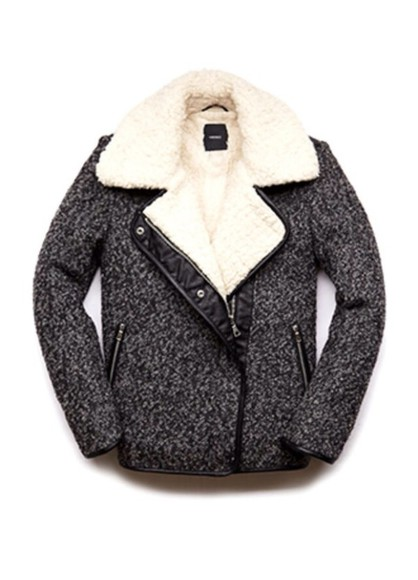 coat jacket wool grey winter jacket fur fur collar bomber jacket