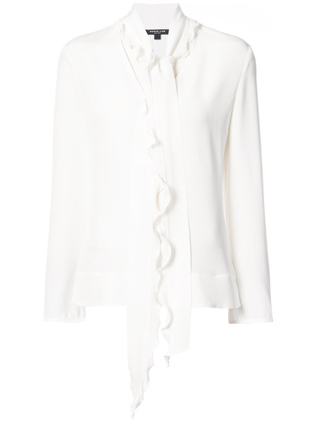 DEREK LAM blouse women nude silk top