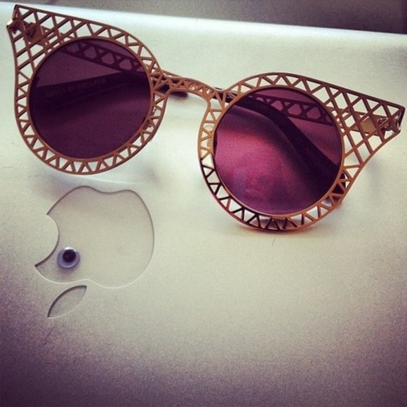 gold golden sunglasses vintage sunglasses purple vintage inspired sunglasses violet dark purple
