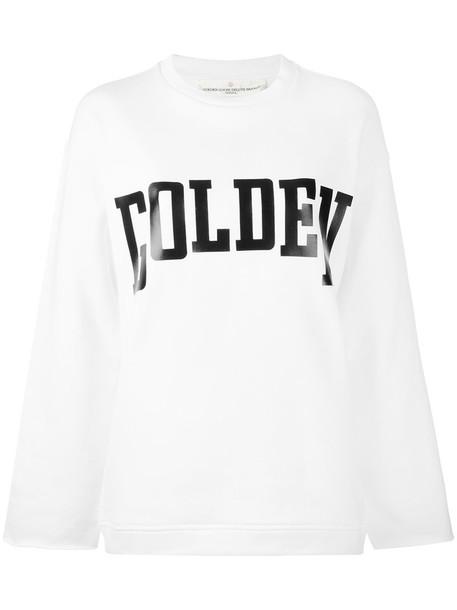 GOLDEN GOOSE DELUXE BRAND sweatshirt women white cotton sweater