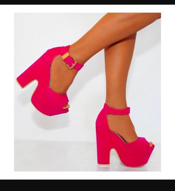 Onlineshoe Demi Wedge Peep Toe Chunky Heels - Velcro Ankle Strap ...
