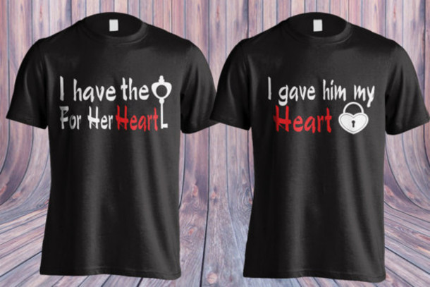 T Shirt Valentines Day Gift Idea Romantic Valentines Day Gift