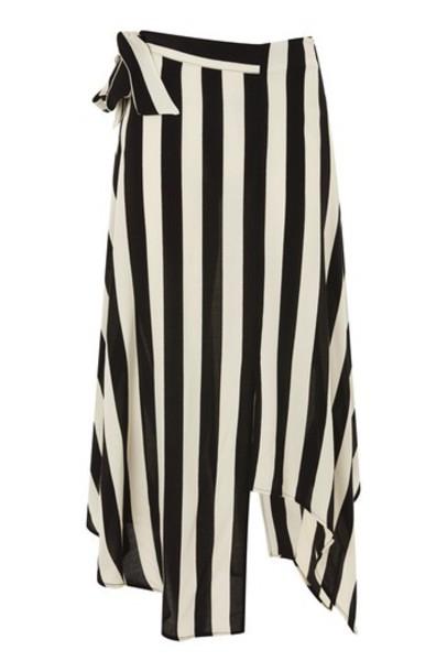 Topshop skirt midi skirt midi monochrome