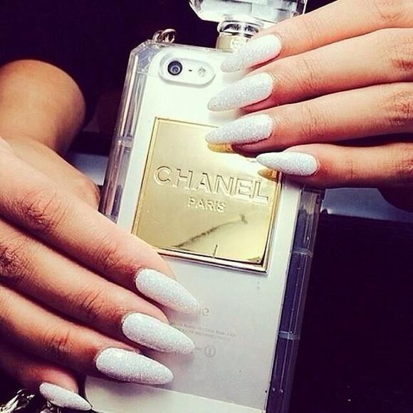 nail polish phone case chanel iphone case white
