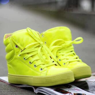 shoes baskets yellow shoes womens shoes