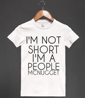 t-shirt,short people,short,short girl,shirt,small,funny