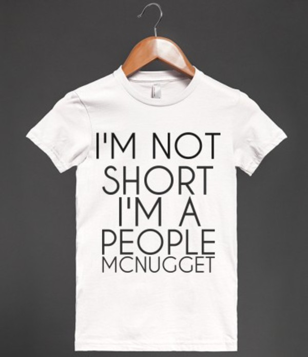 t-shirt short people short short girl shirt t-shirt t-shirt small funny funny