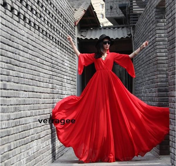 maxi dress red red dress