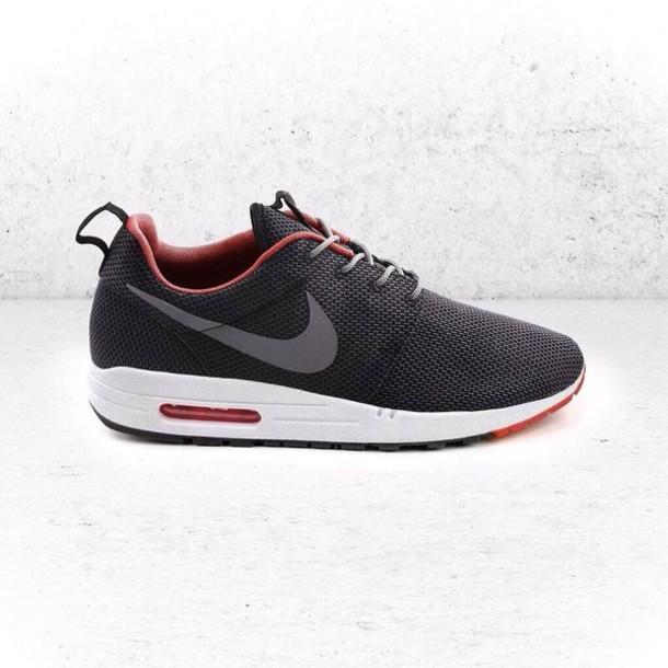 shoes nike sneakers grey black nike sneakers