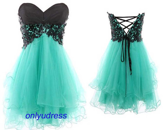 Mint homecoming dresses organza homecoming dresses by onlyudress
