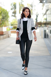 viva luxury,blogger,bag,jacket,jewels,classy,office outfits,tailoring,fall outfits,black leather pants,leather pants