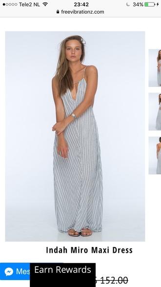 dress maxi dress trendy summer hot stripes fashion style free vibrationz